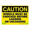 Zing 2153 Caution Sign, 10 x 14In, BK/YEL, ENG, Text