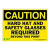 Zing 2156S Caution Sign, 10 x 14In, BK/YEL, ENG, Text