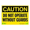 Zing 2157 Caution Sign, 10 x 14In, BK/YEL, ENG, Text