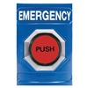 Safety Technology International SS-2407E Emergency Push Button, Illuminated, Blue
