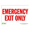 Zing 2084S Sign, Emergency Exit Only, 10x14, Adhesive