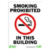 Zing 2086 Sign, Smoking Prohibited, 14x10, Plastic