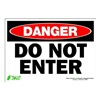 Zing 1093S Sign, Danger Do Not Enter, 7x10, Adhesive