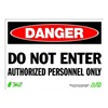 Zing 2094 Sign, Danger Do Not Enter, 10x14, Plastic