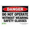 Zing 2096S Sign, Danger Do Not Operate, 10x14
