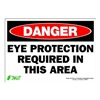 Zing 1097S Sign, Danger Eye Protection, 7x10, Adhesive