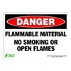 Zing 2100S Sign, Danger Flammable Material, 10x14