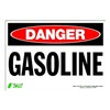 Zing 1101S Sign, Danger Gasoline, 7x10, Adhesive