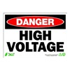 Zing 1103 Sign, Danger High Voltage, 7x10, Plastic