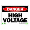 Zing 2103 Sign, Danger High Voltage, 10x14, Plastic
