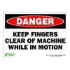 Zing 2105S Sign, Danger Keep Clear, 10x14, Adhesive