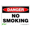Zing 1109S Sign, Danger No Smoking, 7x10, Adhesive