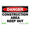 Zing 1112 Sign, Danger Construction Area, 7x10