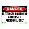 Zing 2120 Sign, Danger Electrical Equip, 10x14