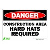 Zing 1122S Sign, Danger Construction Area, 7x10