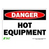 Zing 2126S Sign, Danger Hot Equipment, 10x14, Adhesive