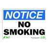 Zing 1133 Sign, Notice No Smoking, 7x10, Plastic