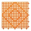 San Jamar VM5280TOGR Bar Mat, Tangerine Orange, 12x12
