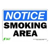 Zing 1135S Notice No Smoking Sign, 7 x 10In, ENG, Text
