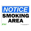 Zing 2135S Notice No Smoking Sign, 10 x 14In, ENG
