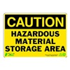 Zing 1150 Caution Sign, 7 x 10In, BK/YEL, ENG, Text