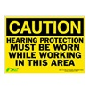 Zing 2151S Caution Sign, 10 x 14In, BK/YEL, ENG, Text