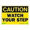 Zing 1154 Caution Sign, 7 x 10In, BK/YEL, ENG, Text