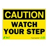 Zing 2154 Caution Sign, 10 x 14In, BK/YEL, ENG, Text