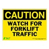 Zing 2155S Caution Sign, 10 x 14In, BK/YEL, ENG, Text