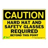 Zing 1156S Caution Sign, 7 x 10In, BK/YEL, ENG, Text