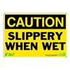 Zing 1158 Caution Sign, 7 x 10In, BK/YEL, ENG, Text