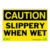 Zing 2158 Caution Sign, 10 x 14In, BK/YEL, ENG, Text