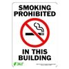 Zing 1086S Sign, Smoking Prohibited, 10x7, Adhesive