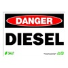 Zing 2092 Sign, Danger Diesel, 10x14, Plastic