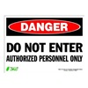 Zing 2094S Sign, Danger Do Not Enter, 10x14, Adhesive