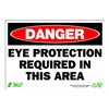 Zing 1097 Sign, Danger Eye Protection, 7x10, Plastic