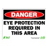 Zing 2097 Sign, Danger Eye Protection, 10x14, Plastic