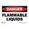 Zing 1099S Sign, Danger Flammable Liquids, 7x10