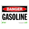 Zing 1101 Sign, Danger Gasoline, 7x10, Plastic