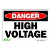 Zing 1103S Sign, Danger High Voltage, 7x10, Adhesive