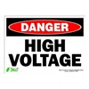 Zing 2103S Sign, Danger High Voltage, 10x14, Adhesive