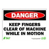 Zing 1105 Sign, Danger Keep Clear, 7x10, Plastic