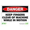 Zing 2105 Sign, Danger Keep Clear, 10x14, Plastic
