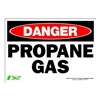 Zing 1111S Sign, Danger Propane, 7x10, Adhesive