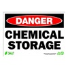 Zing 2117 Sign, Danger Chemical Storage, 10x14