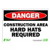 Zing 2122 Sign, Danger Construction Area, 10x14