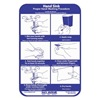 San Jamar HWWLCTGR Hand Washing Chart
