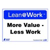 Zing 2164 Lean Processes Sign, 10 x 14In, ENG, Text