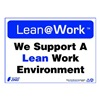 Zing 2165 Lean Processes Sign, 10 x 14In, ENG, Text