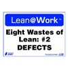 Zing 2167 Lean Processes Sign, 10 x 14In, ENG, Text